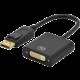 Ednet redukce DP - DVI, 0.15m, DP 1.2 comp., zlatá