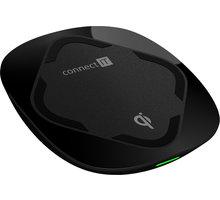 CONNECT IT Qi CERTIFIED Fast bezdrátová nabíječka, 10 W, černá - CWC-7500-BK