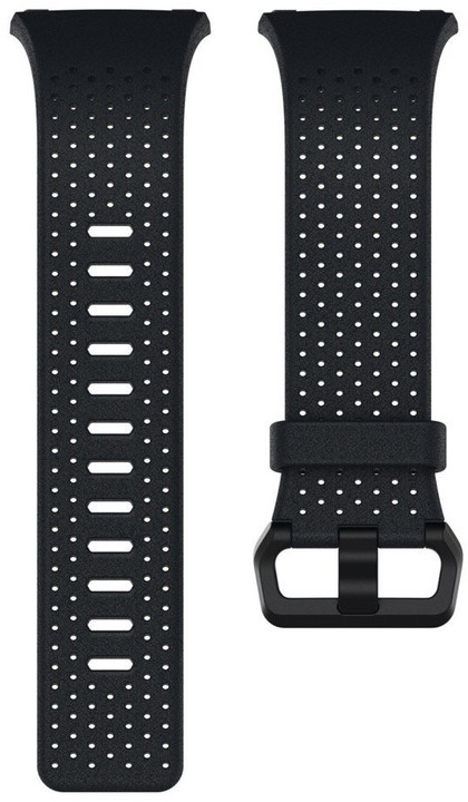Fitbit Ionic perforovaný kožený řemínek Midnight Blue - velikost S