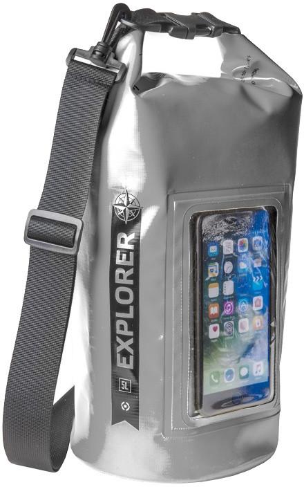 """CELLY voděodolný vak Explorer 5L s kapsou na telefon do 6,2"""", šedý"""