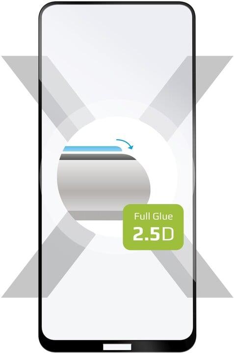 FIXED ochranné tvrzené sklo pro Nokia 3.4, Full-Cover, 2.5D, černá
