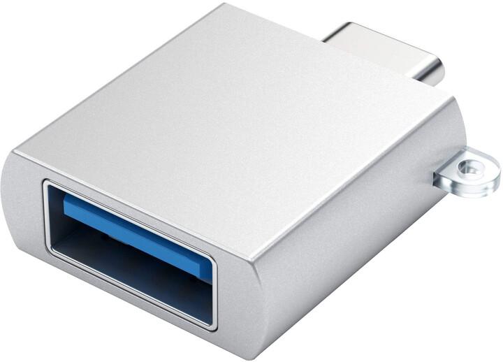 Satechi Type-C - Type A USB Adapter, stříbrná