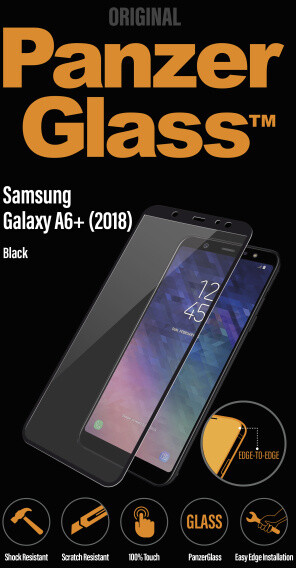 PanzerGlass Edge-to-Edge pro Samsung Galaxy A6 Plus, černé