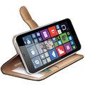 CELLY Wally pouzdro pro Microsoft (Nokia) Lumia 640 XL, PU kůže, černá