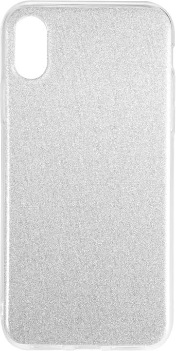 EPICO Pružný plastový kryt pro iPhone X / iPhone Xs GRADIENT, stříbrný