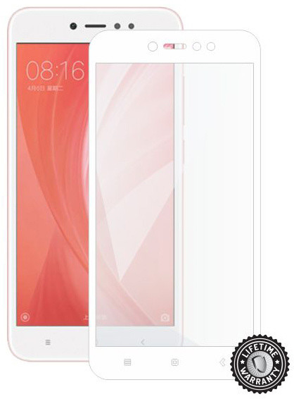 Screenshield pro XIAOMI RedMi Note 5A Global Tempered Glass protection (full COVER white)