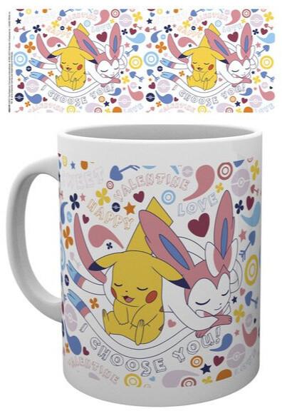 Hrnek Pokémon - Valentine Pikachu Chooses You