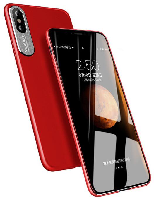 Mcdodo iPhone X Sharp Aluminum Alloy Case (Aluminum Alloy + PC), Red