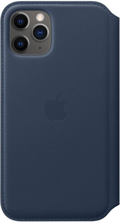 Apple ochranný kryt Leather Folio pro iPhone 11 Pro, tmavě modrá