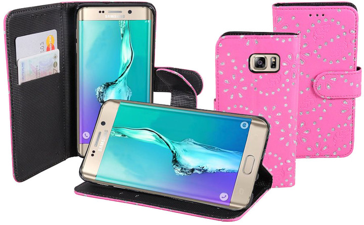Patona pouzdro pro Samsung Galaxy S6 Edge+ Plus, růžová vzor