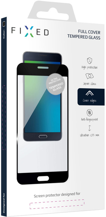 FIXED Ochranné tvrzené sklo Full-Cover pro Samsung Galaxy A6, černé