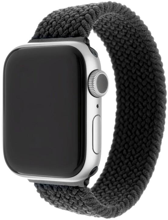 FIXED nylonový řemínek pro Apple Watch, 42/44mm, velikost S, černá