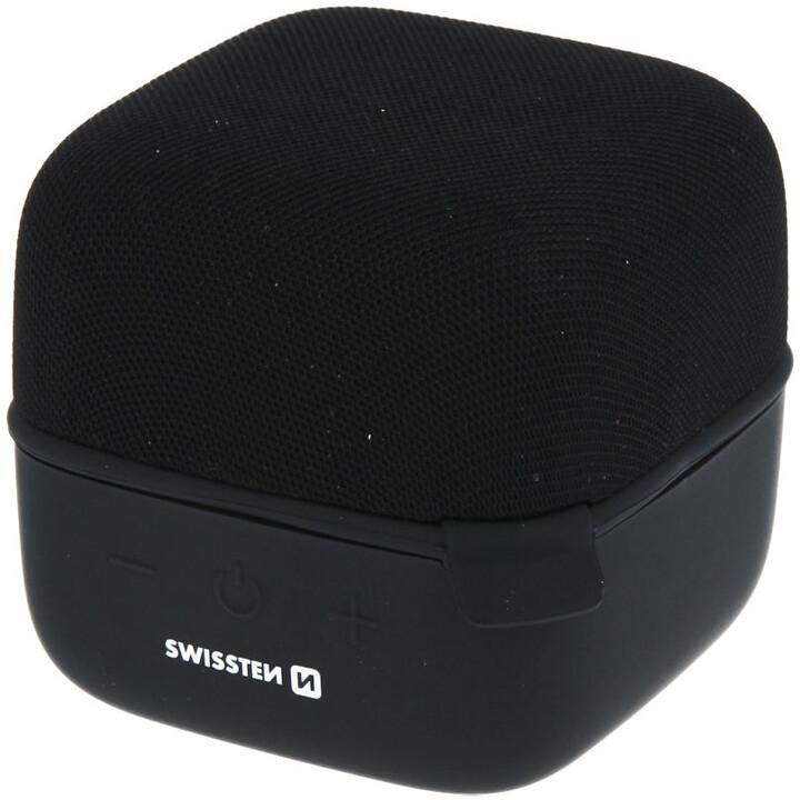 SWISSTEN bluetooth repro music cube, černá