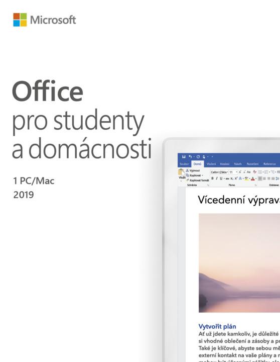 Microsoft Office 2019 pro studenty a domácnosti - pouze k PC
