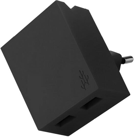 USBEPower LUCKY Hub charger 2USB phone stand, černá