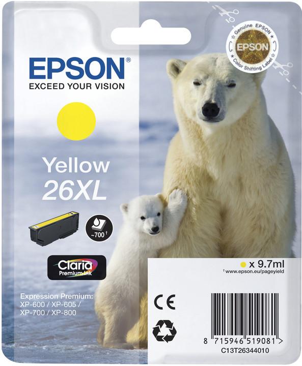 Epson C13T26344010, XL, žlutá