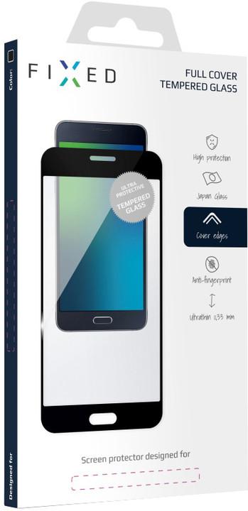 FIXED Full-Cover ochranné tvrzené sklo pro Honor 7X, přes celý displej, černé