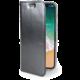 CELLY Air Ultra tenké pouzdro typu kniha pro Apple iPhone X, PU kůže, černé