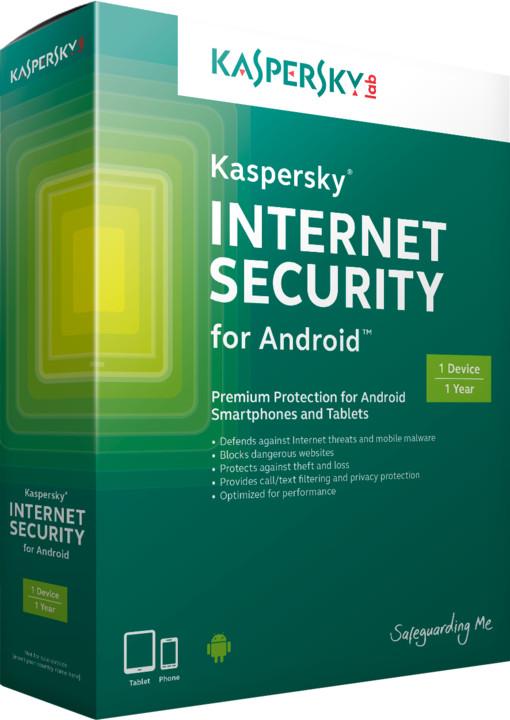 Kaspersky Internet Security pro Android CZ, 1 mobil/tablet, 1 rok, elektronicky
