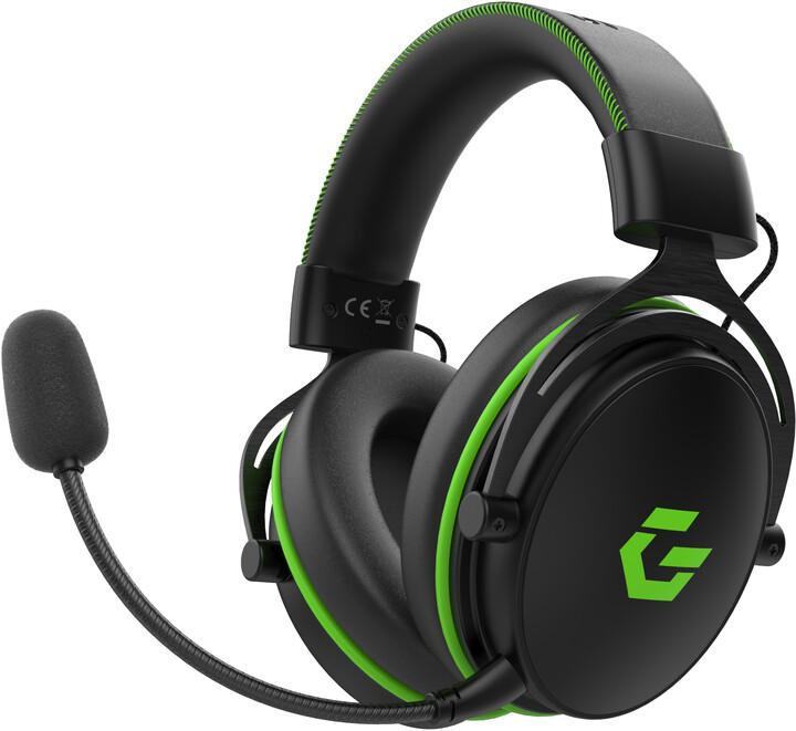 CZC.Gaming Dragon, herní sluchátka, černá/zelená