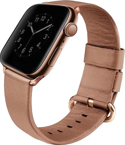 UNIQ Mondain Apple watch 4 Genuine Leather strap 40mm, coral