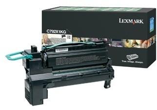 Lexmark C792X1KG, černá, return