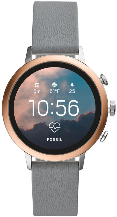 Fossil FTW6016 F Rose Gold/Multi Silicone Sport