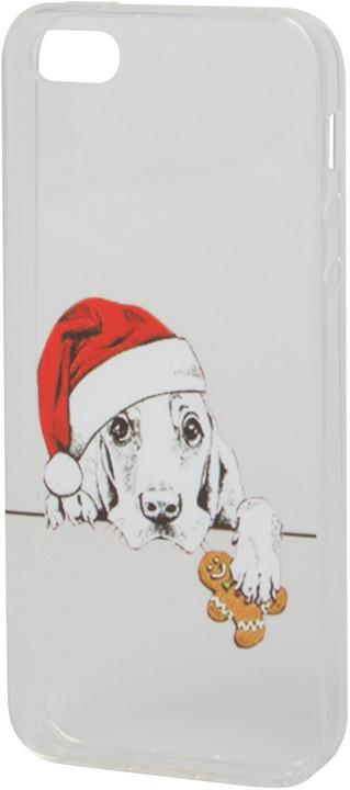 EPICO pružný plastový kryt pro iPhone 5/5S/SE XMAS DOG