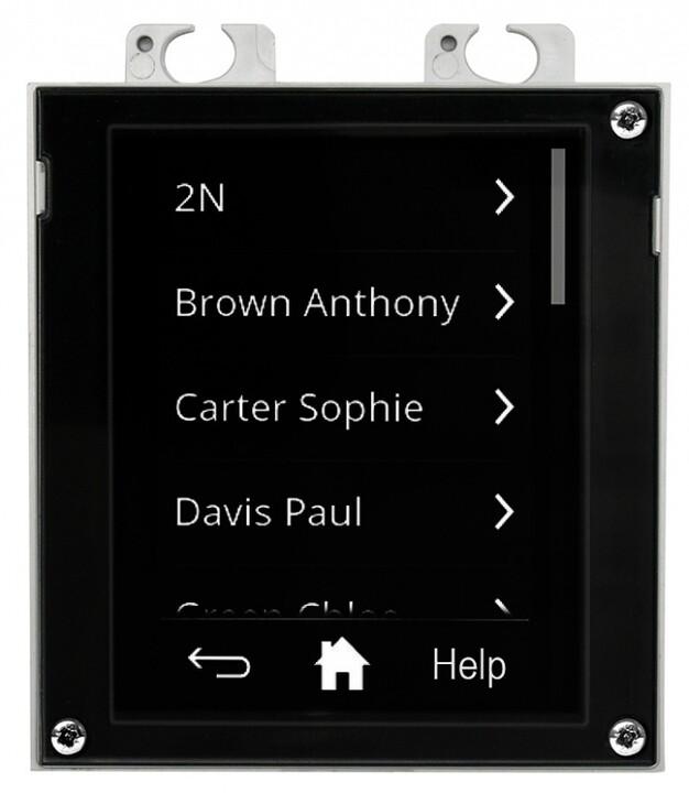 2N IP Verso, rozšiřující modul, dotykový display