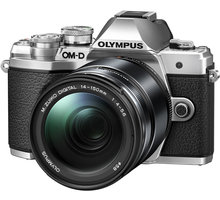 Olympus E-M10 Mark III + 14-150mm, stříbrná/černá  + objektiv Olympus M. ZUIKO DIGITAL 45mm f/1.8, černá v hodnotě 8 499 Kč