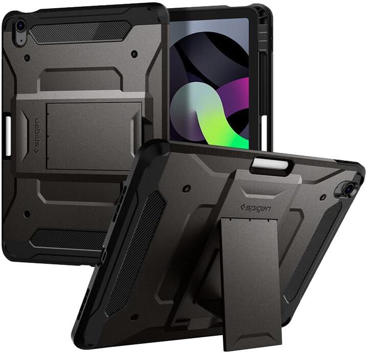 """Spigen ochranný kryt Tough Armor pro Apple iPad Air 10.9"""" (2020), tmavě šedá"""