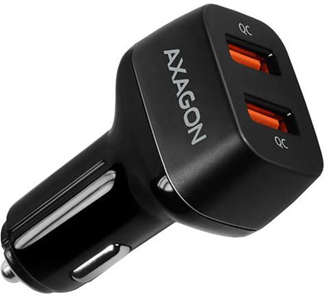 AXAGON dual QUICK nabíječka do auta, 2x port QC3.0/AFC/FCP/PE+/SMART, 39W