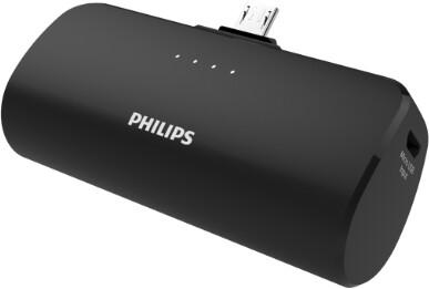 Philips powerbanka 2500mAh, micro USB, černá