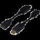 Digitus adaptér DisplayPort - HDMI, M/F, 15cm, černá