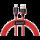 Baseus kabel pro rychlonabíjení a přenos dat HW USB Type-C 40W 2m, červená