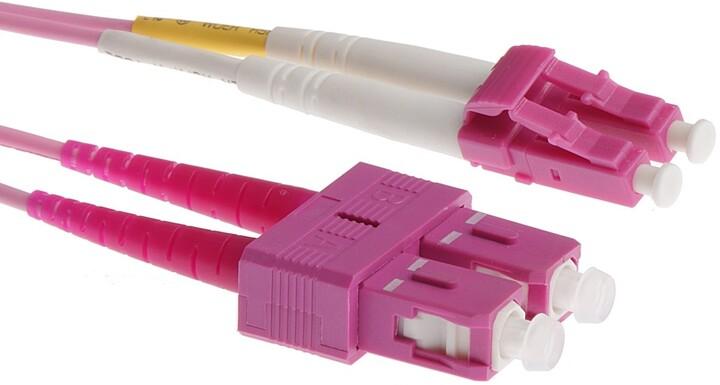 Masterlan optický patch cord, LCupc/SCupc, Duplex, Multimode 50/125, OM4, 3m