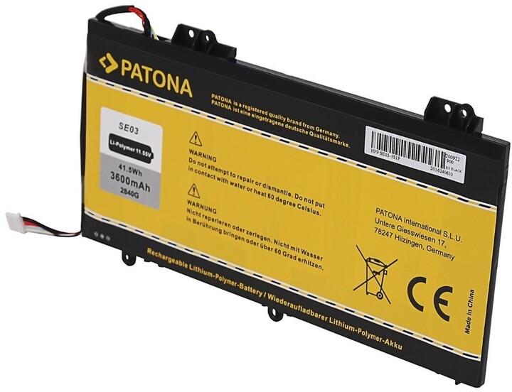 Patona baterie pro ntb HP Pavilion 14-AL (SE03, SE03XL), 3600mAh, 11.55V, Li-Pol