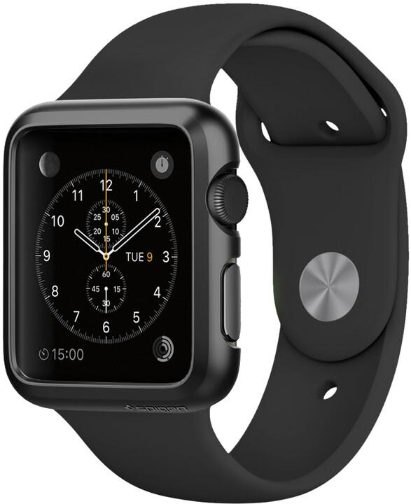 Spigen Thin Fit, black - Apple Watch 42mm
