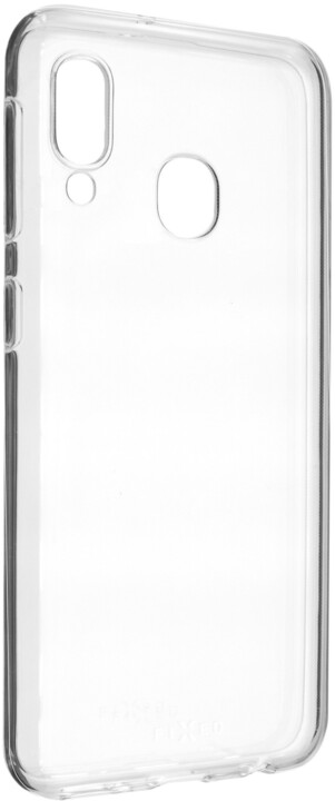 FIXED ultratenké TPU gelové pouzdro Skin pro Samsung Galaxy A20e, 0,6 mm, čiré