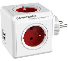 PowerCube ORIGINAL USB rozbočka-4 zásuvka, červená - 8718444085935