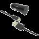 FIXED autonabíječka s odnímatelným USB-C kabelem, 2,4A, černá