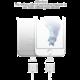 WSKEN Lightning magnetický nabíjecí/datový kabel, dvě koncovky, 1m, kov/plast, stříbrná
