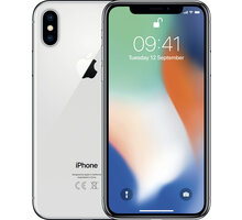 Apple iPhone X, 64GB, stříbrná MQAD2CN/A
