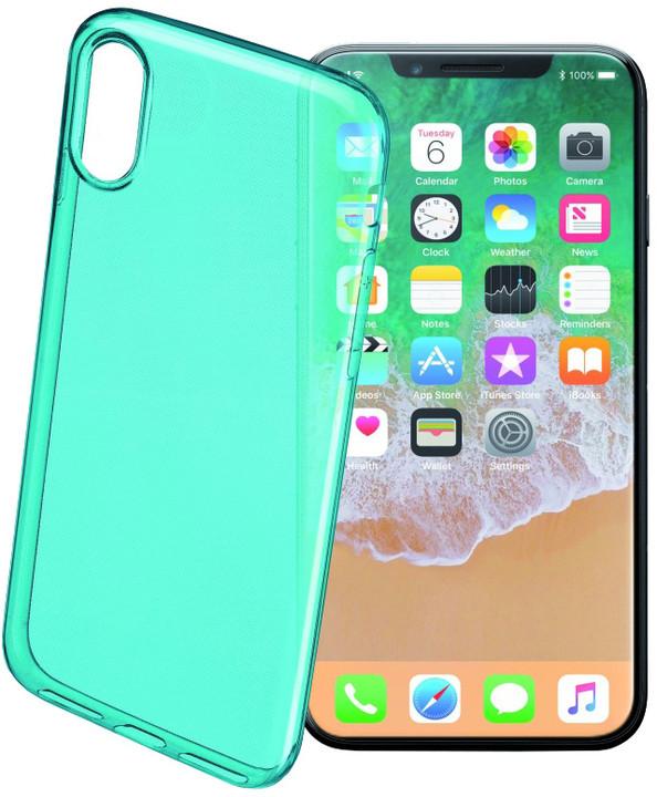 CellularLine COLOR barevné gelové pouzdro pro Apple iPhone X, zelené