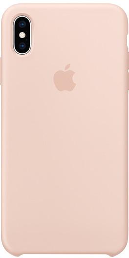 Apple silikonový kryt na iPhone XS Max, pískově růžová