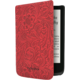 POCKETBOOK pouzdro pro 616, 627, 632, vzor květin, červená