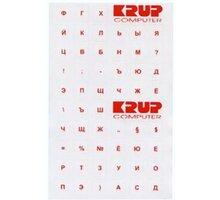 Přelepka na klávesnici ruská, bílá - pkrub