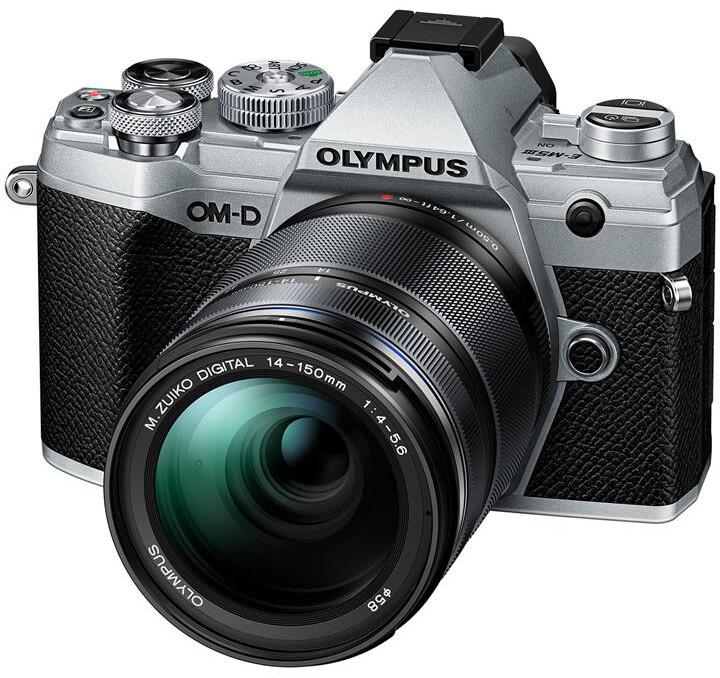 Olympus E-M5 Mark III + 14-150mm II, stříbrná/černá