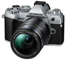 Olympus E-M5 Mark III + 14-150mm II, stříbrná/černá - V207091SE000