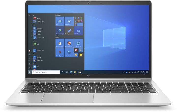 HP ProBook 455 G8, stříbrná